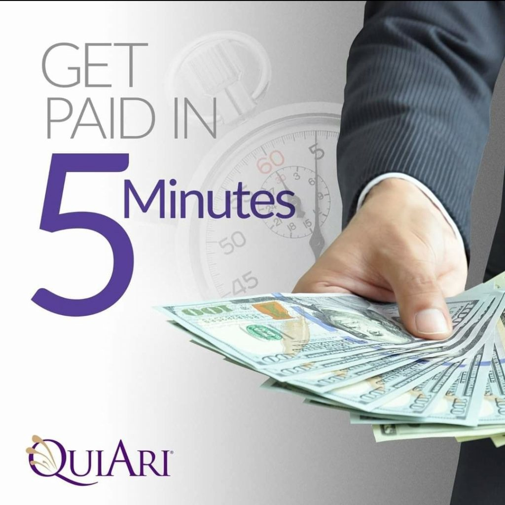 get paid in 5 minutes